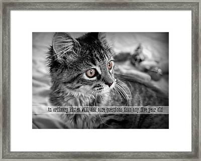 Freya Quote Framed Print by JAMART Photography