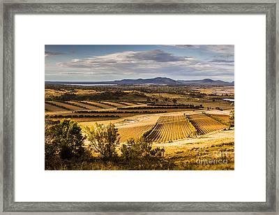 Freycinet Peninsula In Tasmania Australia Framed Print
