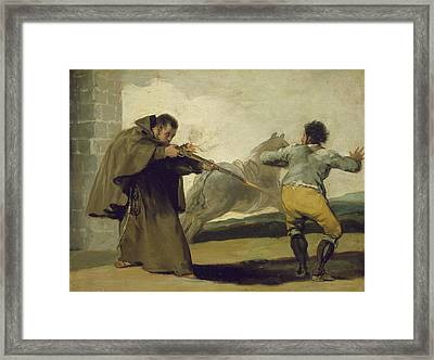 Friar Pedro Shoots El Maragato As His Horse Runs Off Framed Print