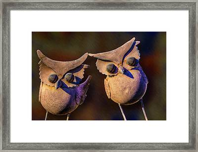 Frick And Frack Framed Print by Paul Wear