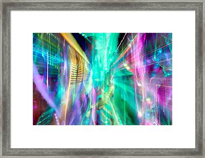 Friction Framed Print by Az Jackson