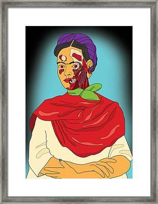 Frida After Ayotzinapa Framed Print by Jose Maria Carro Lopez