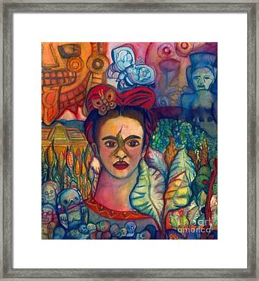 Frida And Mexico Framed Print