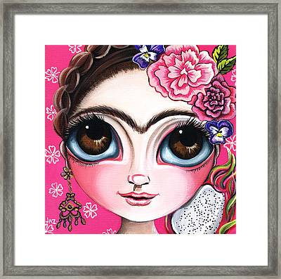 Frida And The Dragonfruit Framed Print