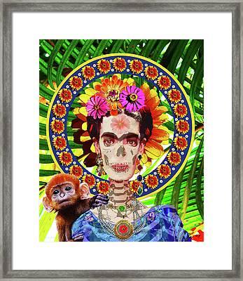Frida De Muertos Framed Print by Susan Vineyard