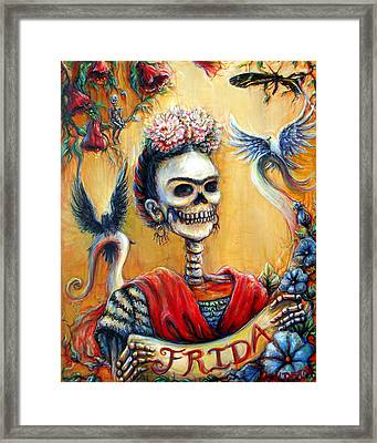 Framed Print featuring the painting Frida by Heather Calderon