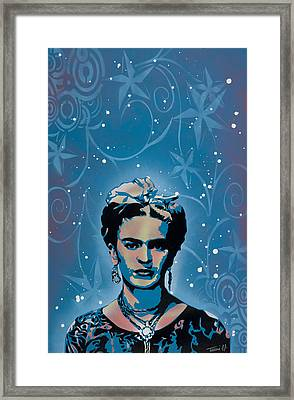 Frida Framed Print by Tai Taeoalii