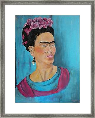 Frida Framed Print by Jenny Pickens