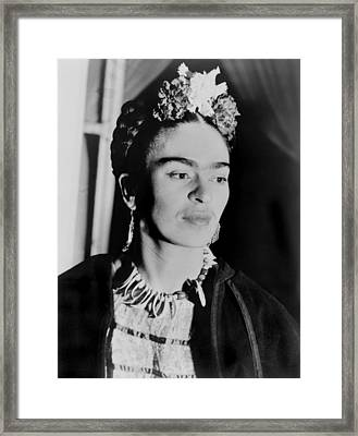 Frida Kahlo 1907-1954, Mexican Artist Framed Print by Everett