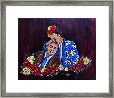 Frida Kahlo And Diego Rivera, Artists Framed Print