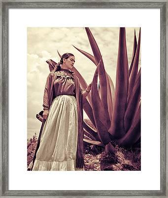 Frida Kahlo Framed Print by Carlos Lazurtegui