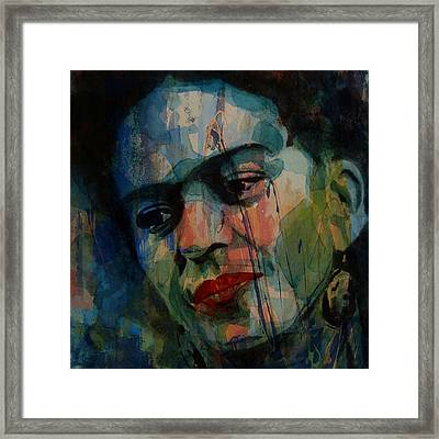 Frida Kahlo Colourful Icon  Framed Print by Paul Lovering