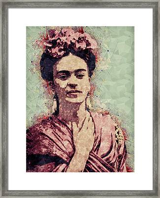 Frida Kahlo - Contemporary Style Portrait Framed Print