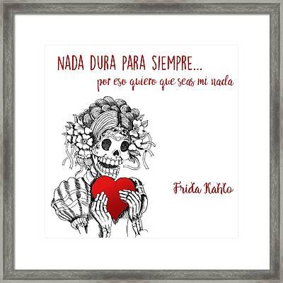 Frida Kahlo Framed Print by Cynthia Cabello