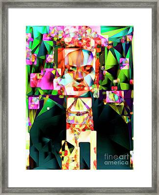 Framed Print featuring the photograph Frida Kahlo In Abstract Cubism 0170326 V3 by Wingsdomain Art and Photography