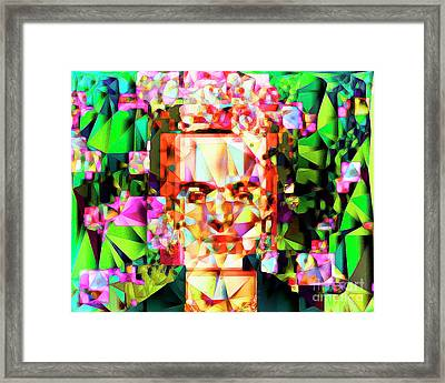 Frida Kahlo In Abstract Cubism 20170326 V3 Horizontal Framed Print