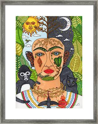 Frida Kahlo Monarca Framed Print