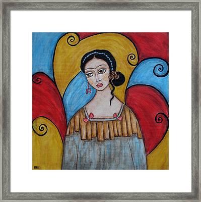 Frida Kahlo Framed Print by Rain Ririn