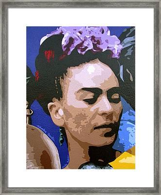 Frida Kahlo Framed Print by Roberto Valdes Sanchez