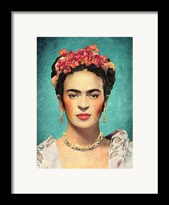 Self-portrait Framed Prints
