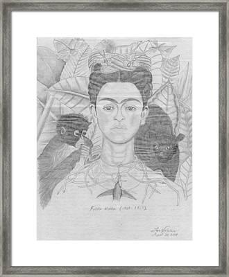 Frida Khalo Framed Print by M Valeriano