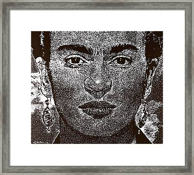 Frida Khalo Framed Print by Max Eberle