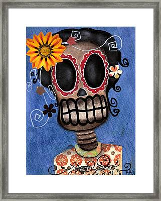 Frida Muerta Framed Print by  Abril Andrade Griffith