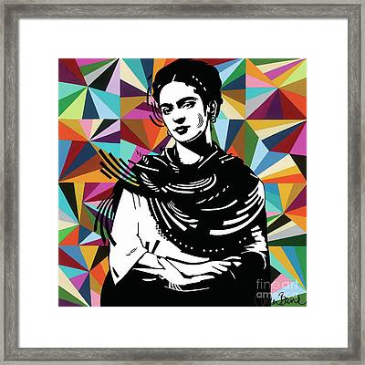 Framed Print featuring the painting Frida Stay True by Carla Bank