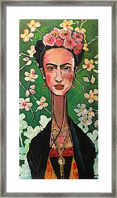 Framed Print featuring the painting Frida You Are My Vogue by Laurie Maves ART