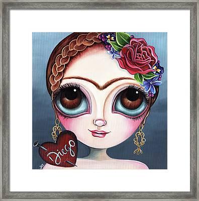 Frida's Broken Heart Framed Print