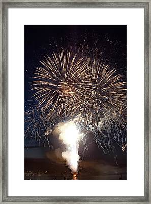 Friday Harbor July 4th Spectacular Framed Print