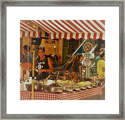 Friday Market Day Framed Print