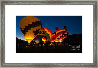 Friday Night At The Quechee Balloon Festival Framed Print