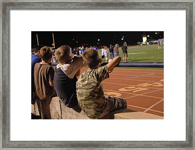 Framed Print featuring the photograph Friday Night Lights by Karen Musick