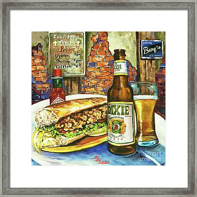Friday Night Special Framed Print