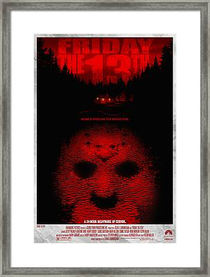 Friday The 13th Alternative Poster Framed Print by Christopher Ables