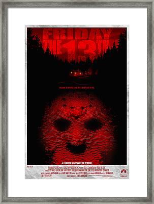 Friday The 13th Alternative Poster Framed Print