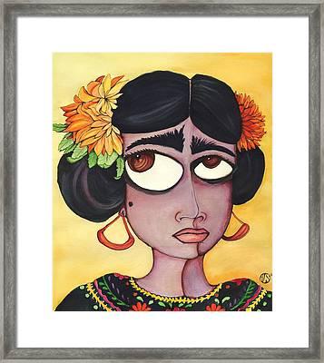 Fridita Framed Print by Angie Snapp