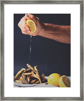 Fried Fish Framed Print