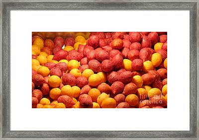 Framed Print featuring the photograph Fried Sweet Potato Balls by Yali Shi