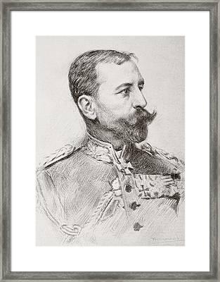 Friedrich Adolf Julius Von Bernhardi Framed Print by Vintage Design Pics