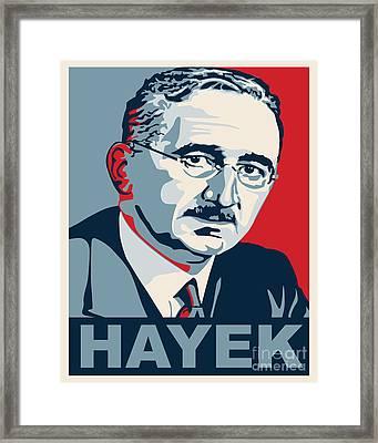 Friedrich Hayek Framed Print by John L