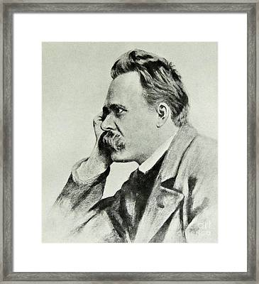 Friedrich Nietzsche, 1912 Framed Print by German School