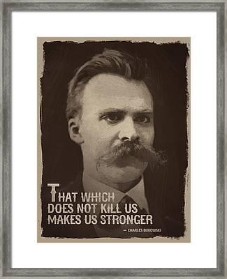 Friedrich Nietzsche Quote Framed Print by Afterdarkness