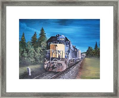 Frieght Train Framed Print by Chris Shepherd