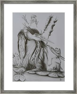 Friend Or Foe? Framed Print by Roy Ramakers