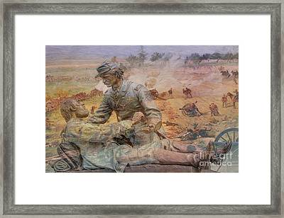 Friend To Friend Monument Gettysburg Battlefield Framed Print by Randy Steele