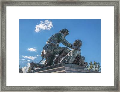 Friend To Friend Monument Gettysburg Framed Print by Randy Steele