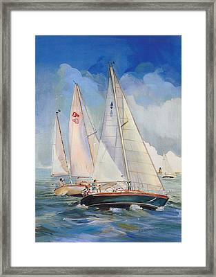 Friendly Competition Framed Print