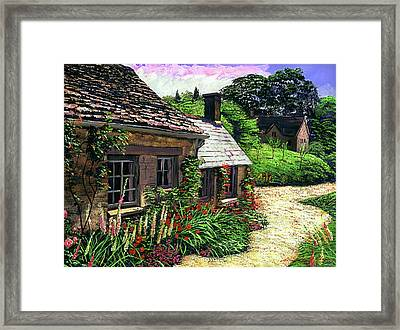 Friendly Cottage Framed Print by David Lloyd Glover
